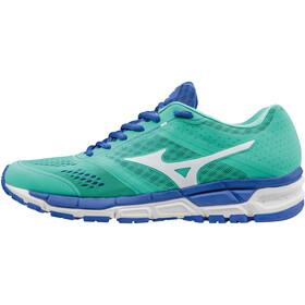 Mizuno Synchro MX Running Shoes Women electric green/white/dazzling blue